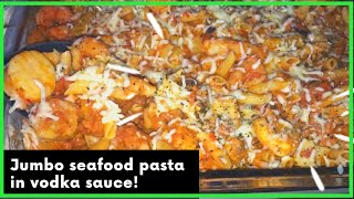 THE BEST SEAFOOD PASTA WITH VODKA SAUCE