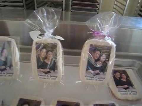 PHOTO BAKE SHOP Unique Personalized COOKIE WEDDING FAVORS
