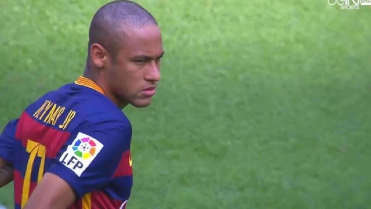 Neymar New Hairstyle Fc Barcelona Vs Las Palmas 2692015 Youtube