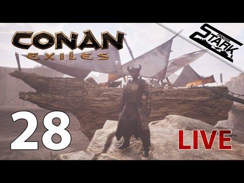 Conan Exiles - 28.Rész (Thrall fogás a kőhajón) - Stark LIVE