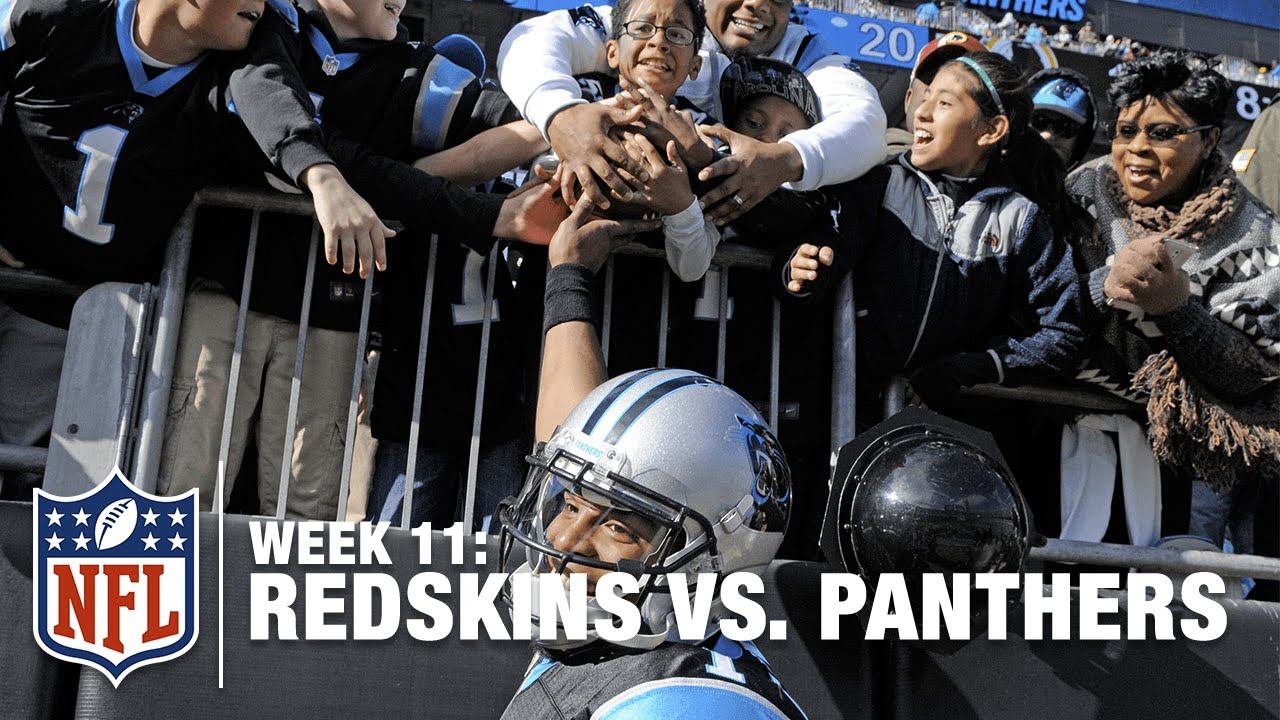 44a9a3f9 Cam Newton Gives Footballs to Kids After Scoring 5 TDs (Week 11, 2015) | NFL