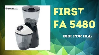 Кофемолка FIRST FA 5480 Обзор Распаковка