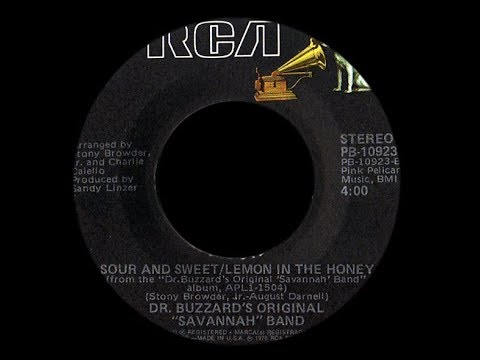 Dr Buzzard's Original Savannah Band ~ Sour & Sweet/Lemon In The Honey 1976 Disco Purrfection Version