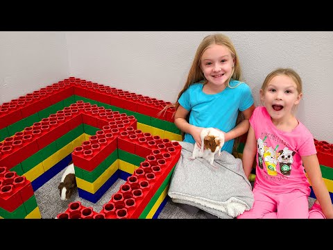 Building a Giant Lego Fort Maze & Playpen for My Guinea Pigs!!!
