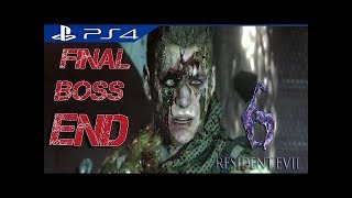 Resident Evil-6 | Biohazard-6 Final Boss | The End★Without lossing any life★