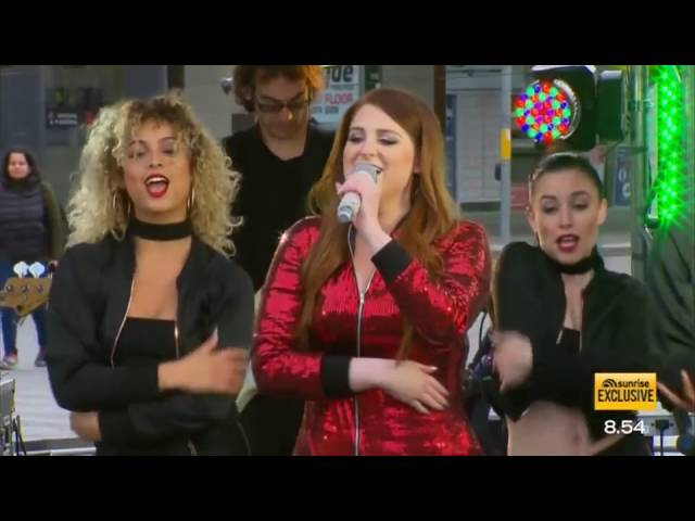 Meghan Trainor performs 'All About That Bass' LIVE - Sunrise
