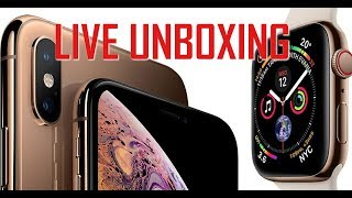 IPHONE XS & APPLE WATCH 4 - LIVE UNBOXING!