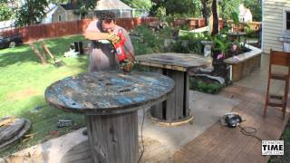 Building A Big Spool Table Time Lapse