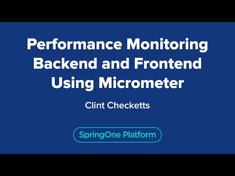 Performance Monitoring Backend and Frontend using Micrometer