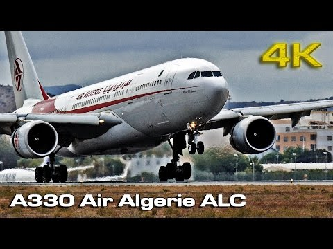 Airbus A330 Air Algerie Alicante Airport  (Short Takeoff) [4K]