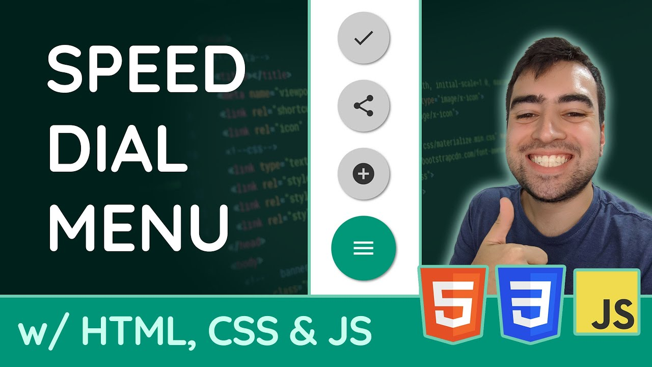 How to create a Speed Dial Menu using HTML, CSS & JavaScript