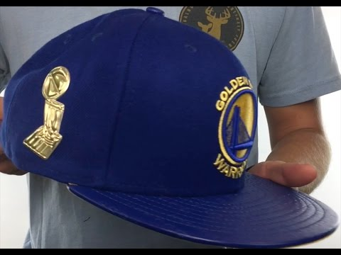 69fc27d8f4d1d Warriors  TROPHY-CHAMP  Royal Fitted Hat by New Era - YouTube