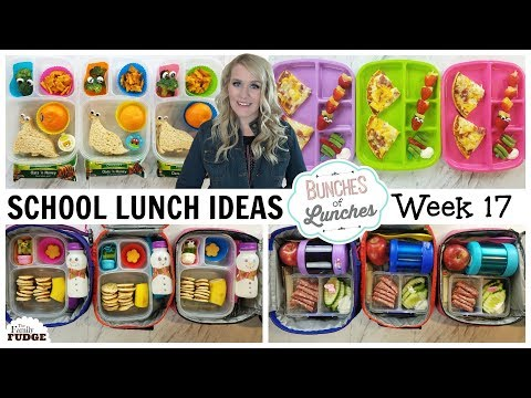 FUN School Lunch Ideas + What They Ate 😃 Bunches of Lunches Week 17