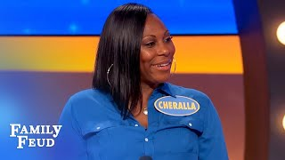 His girlfriend did WHAT like a chicken?! | Family Feud