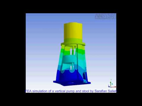 Finite Element Analysis of a Vertical Pump