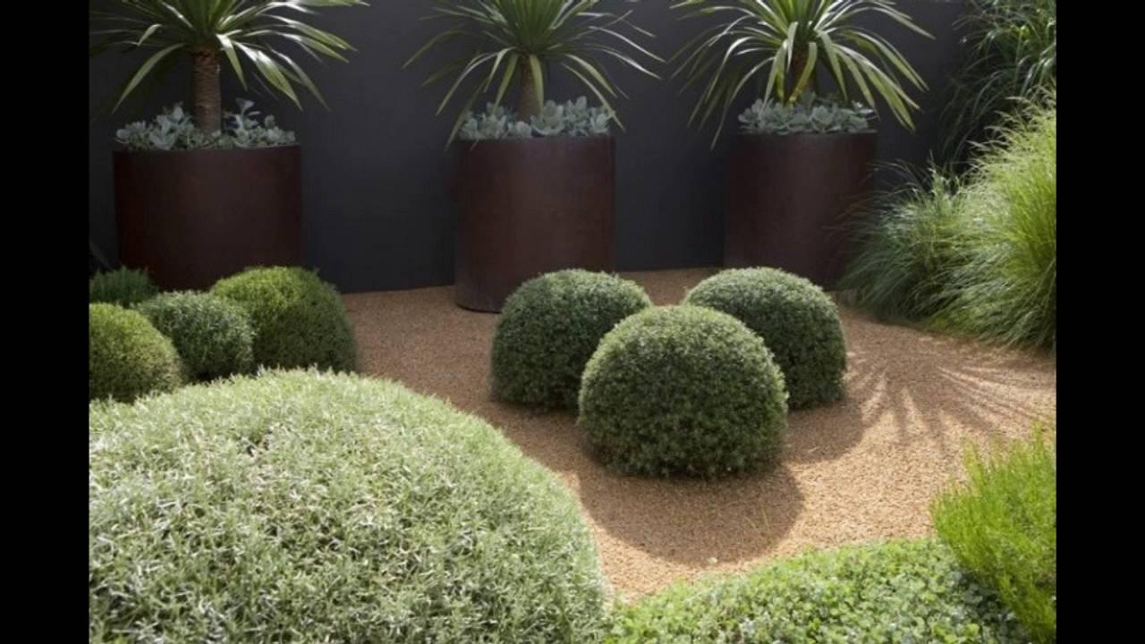 decoracion de jardines modernos con arena y gravilla