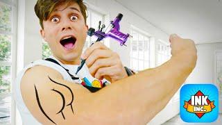 FIZ A MINHA PRIMEIRA TATUAGEM !!! | Ink Inc. Tattoo Drawing