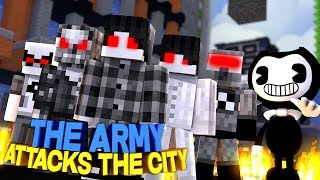 BENDY AND THE INK MACHINE ARMY HAVE A BIG SECRET??? | Minecraft
