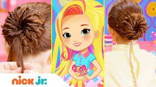 How to Make a Pop Star Pinwheel ✨ Style Files Hair Tutorial | Sunny Day | Nick Jr.