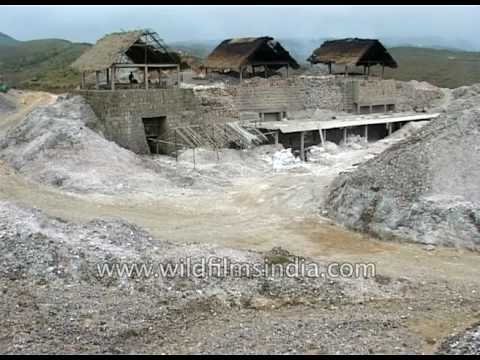 Coal Mining near Mawsmai Cave in Meghalaya
