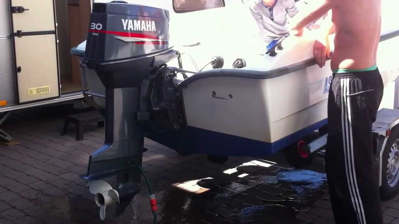 First run of my yamaha 30 hp 2 stroke outboard 30detol for 30 hp yamaha outboard