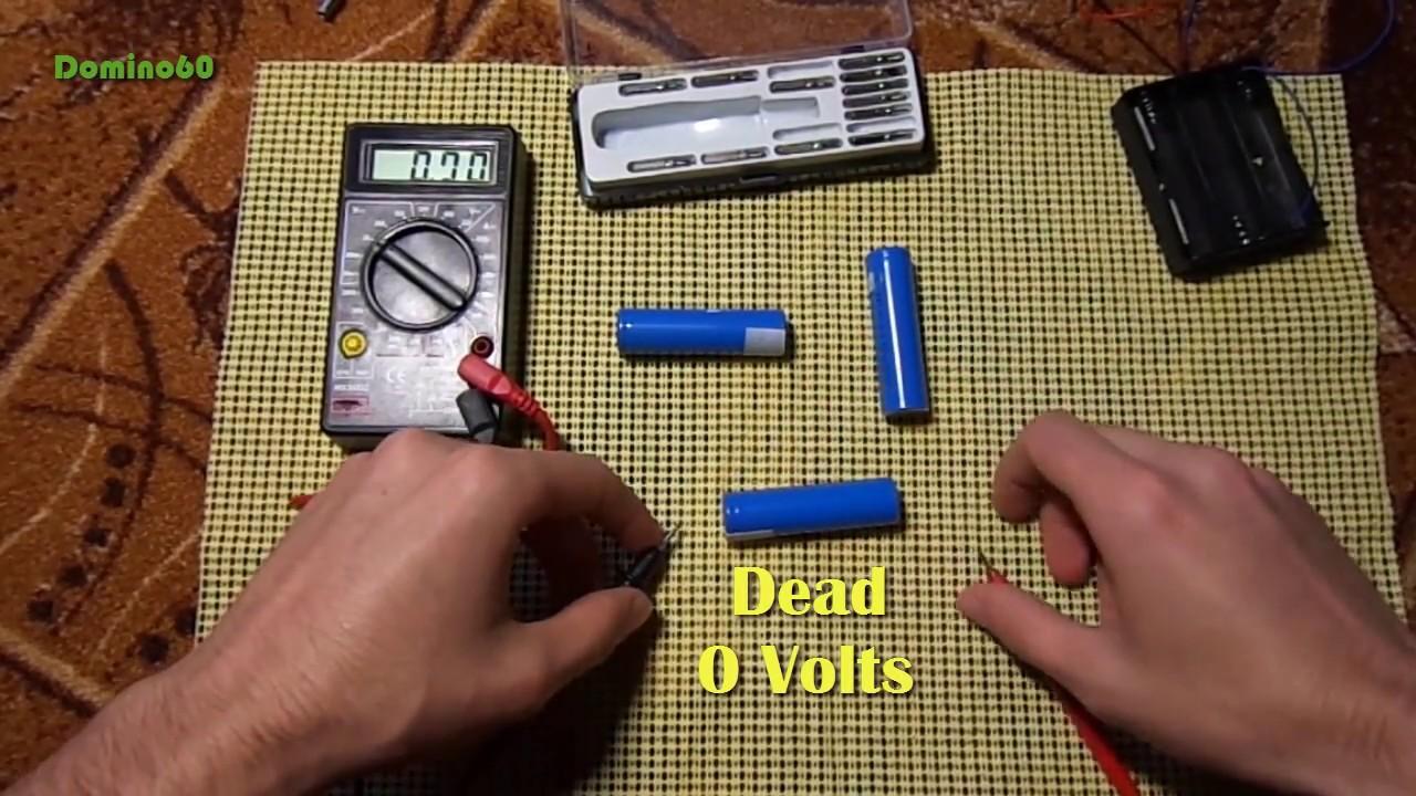Waking Up A Dead Sleeping 18650 Li Ion Battery Youtube