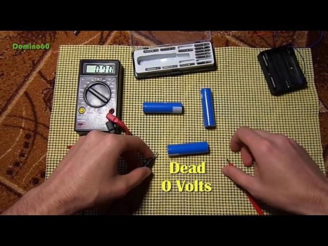 Waking up a dead/sleeping 18650 Li-Ion battery