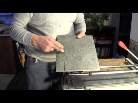 How To Cut Porcelain Tile Using A Tile Cutter Youtube