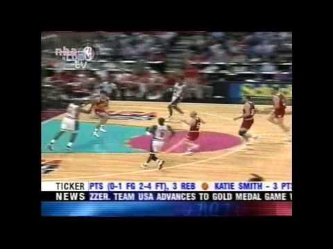1992 Team USA Highlights vs Canada (Preliminary game)