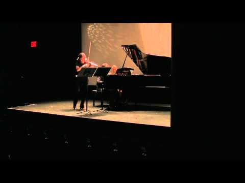 """Sean Shepherd, composer """"Dust"""" for violin and piano"""