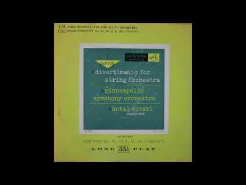 Bartok Divertimento for String Orchestra  (1950?) ANTAL DORATI Minneapolis symphony orchestra