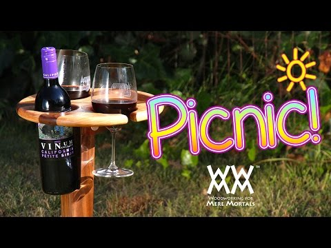 Folding Wine Stand Perfect For Picnics Summer Fun Youtube