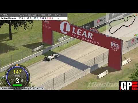 iRacing Formula 3 Demo Lap Detroit 2019S1