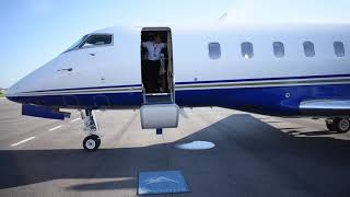 Riding In A Private Jet