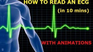 HOW TO READ AN ECG!! WITH ANIMATIONS(in 10 mins)!!
