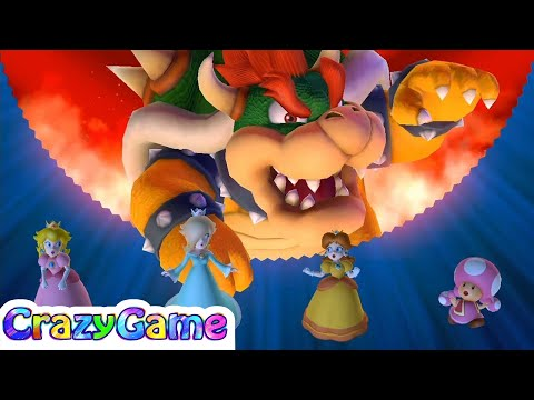 Mario Party 10 Bowser Party - Peach, Daisy, Rosalina, Toadette vs Bowser Whimsical Waters (2 Player)