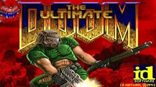 The Ultimate Doom gameplay (PC Game, 1995)