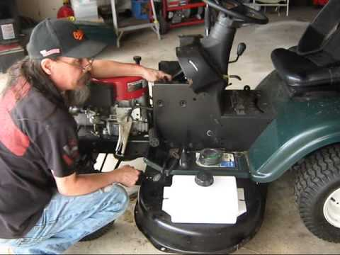 John Deere L120 Mower Wiring Diagram Craftsman Mower Fuel Tank Replacement Youtube