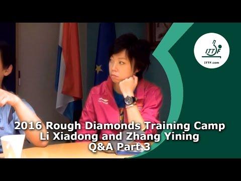 2016 Rough Diamonds Training Camp I Q&A with Li Xiadong and Zhang Yining Part 3