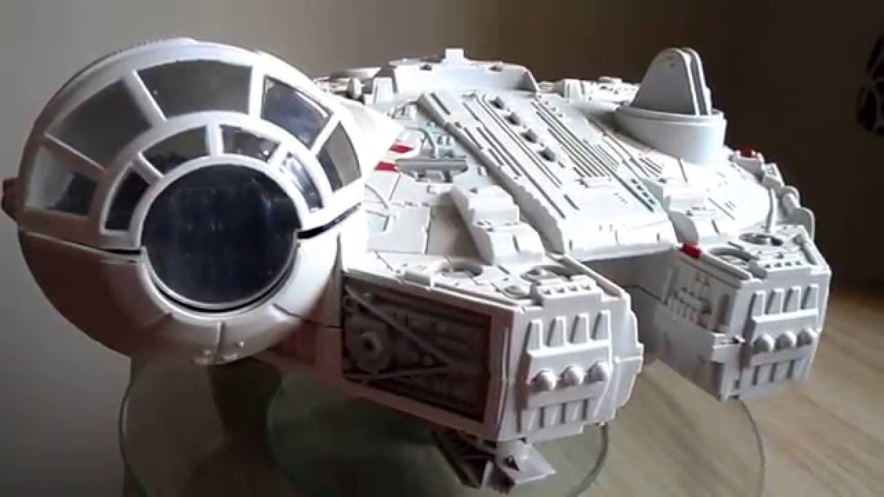 millennium falcon hasbro 2001 star wars toy with leds and sound effect youtube. Black Bedroom Furniture Sets. Home Design Ideas