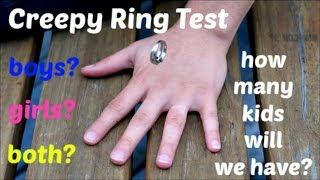 Creepy Ring Gender Test: Sex and Number of Children in Birth Order