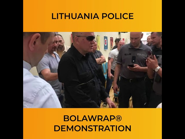 BolaWrap Demonstration: Lithuania Police
