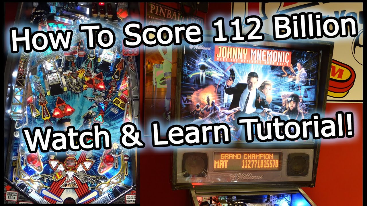 Johnny Mnemonic Pinball Machine Tutorial Gameplay