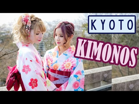 A day in Kyoto wearing Kimonos | KimDao