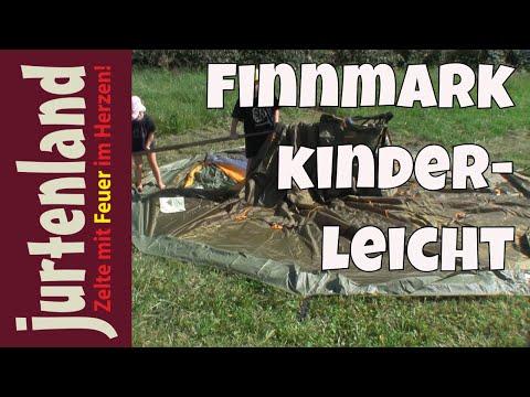 Finnmark - Ein Lavvu kinderleicht aufgebaut - Jurtenland