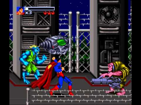 [Game Sample] The Death and Return of Superman (SNES, Stage 1)