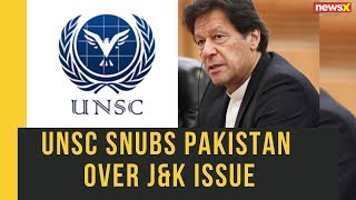UNSC snubs Pakistan over Jammu Kashmir issue, says Delhi & Islamabad shall together find solution