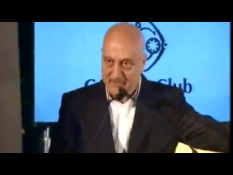 """High Drama"" of Anupam Kher's speech at The Telegraph National Debate 2016 on 5 March"
