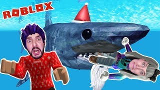 Roblox: RIESEN HAI IS US & WILL EAT US! NINA + KAAN PLAY SHARKBITE! German