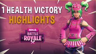 1 Health Victory! - Fortnite Battle Royale Highlights - Ninja